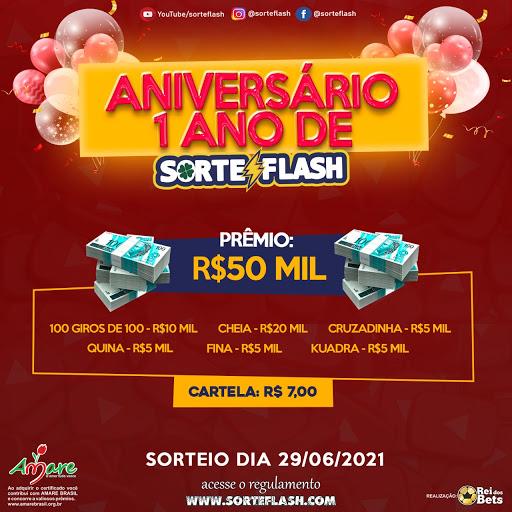 PRÓXIMO SORTEIO DO SEU SORTE FLASH 29/06/2021
