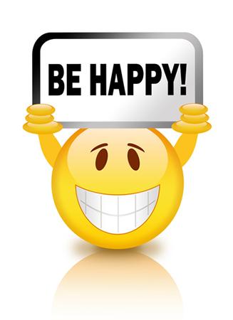 Be happy smiley