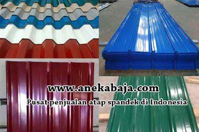 Harga Atap Spandek Warna Bandung Terbaru 2021