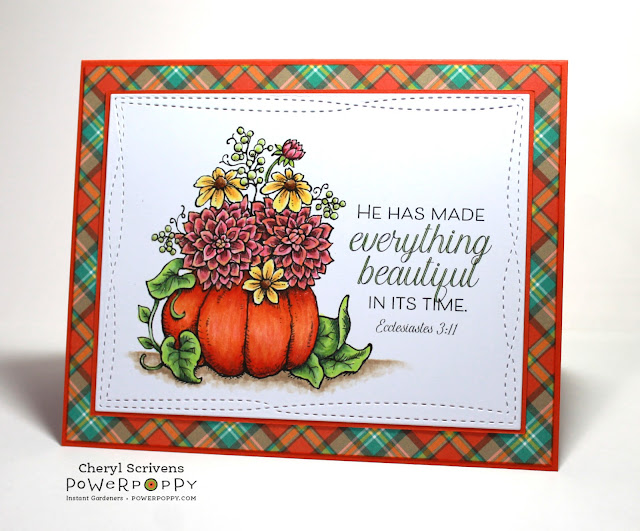 Power Poppy, Marcella Hawley, Season's Seatings, CherylQuilts, Designed by Cheryl Scrivens, September 2018