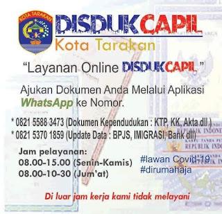 Layanan Online DISDUKCAPIL Kota Tarakan - Tarakan Info
