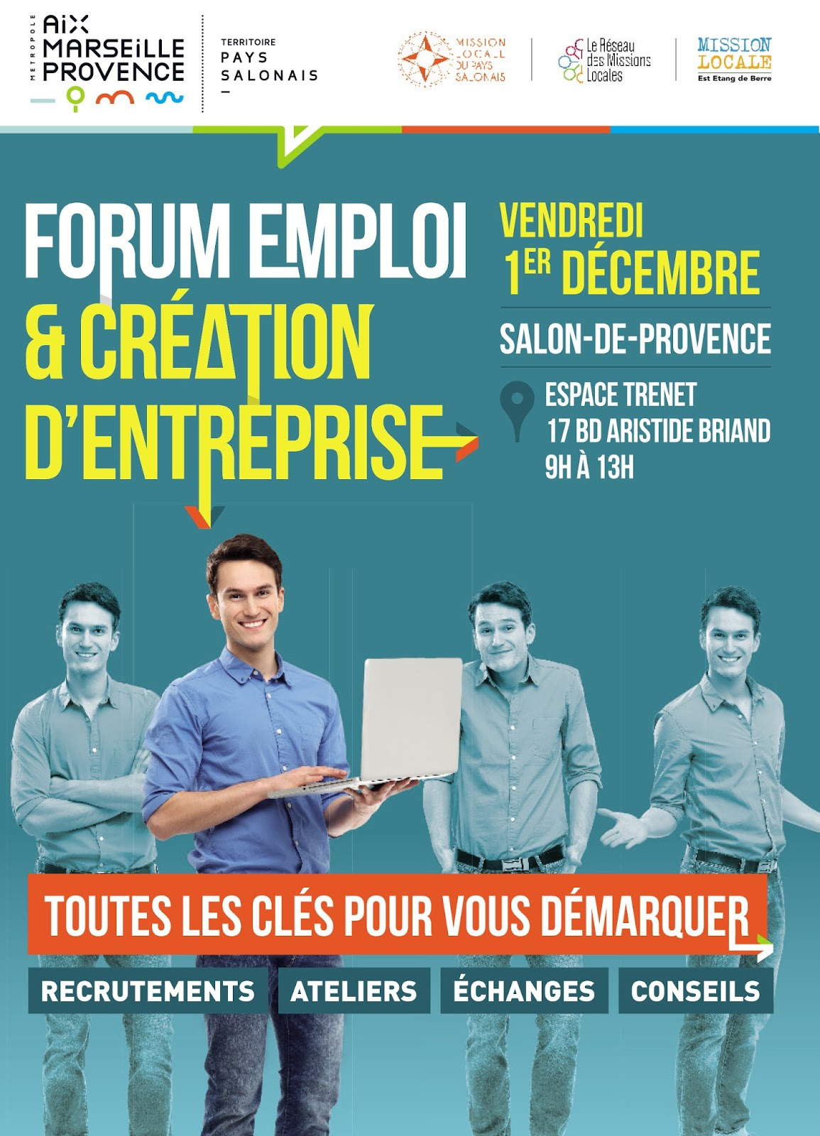Forum emploi cr ation d 39 entreprise vendredi 1er for Meteo salon de pce