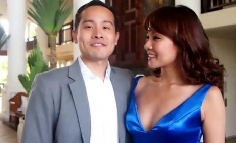 Jade Seah, actress-host, 31, with her her husband, Terence