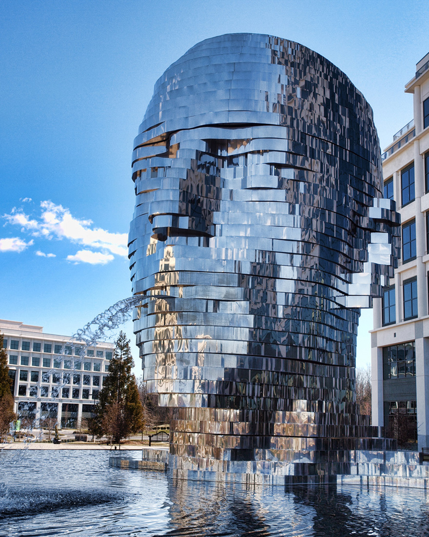 42 Of The Most Beautiful Sculptures In The World - Metalmorphosis By David Cherny At The Whitehall Technology Park, Charlotte, Nc