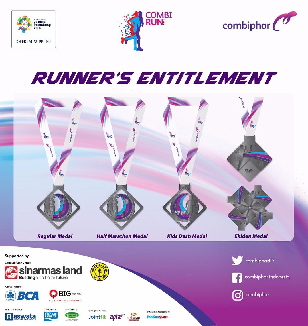 Medali 🏅 Combi Run • 2018