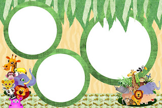 Baby Jungle Free Printable Invitations, Labels or Cards.