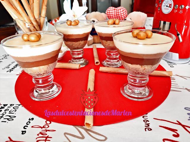 Copas de Tarta Tres Chocolates
