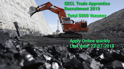 SECL Trade Apprentice Recruitment 2019- Apply Online for 5500 Vacancy