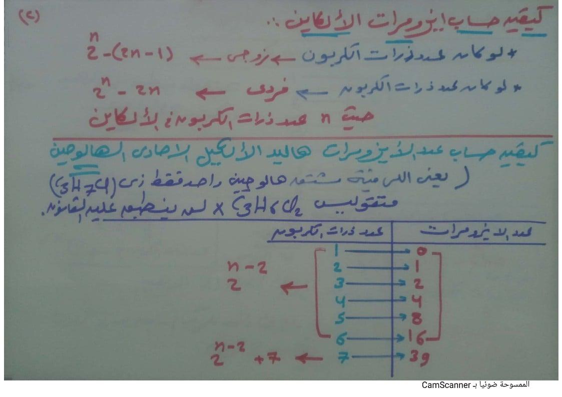 مراجعة الكيمياء العضوية | كيفية حساب الايزومرات 2