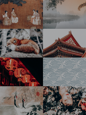 east flows the river michelle kan moodboard aesthetic