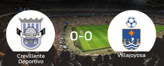 El Crevillente Deportivo y el Villajoyosa no encuentran el gol y se reparten los puntos (0-0)