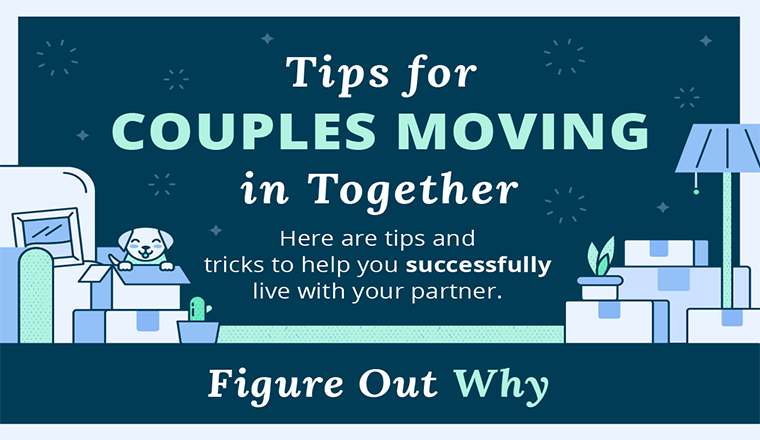 A Couple's Guide to Moving in Together #infographic