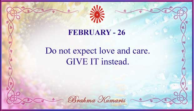 Thought For The Day February 26