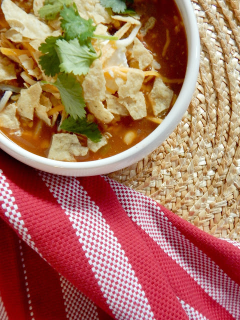 Instant Pot Chicken Enchilada Soup....an easy, quick meal in your Instant Pot or on your stove-top.  All the flavors of an enchilada in a bowl. (sweetandsavoryfood.com)