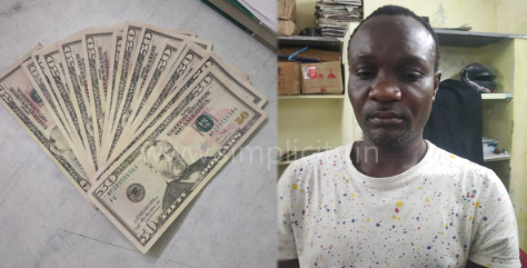 Nigerian man arrested in India over a fake U.S. dollar bills, fake passport and visa