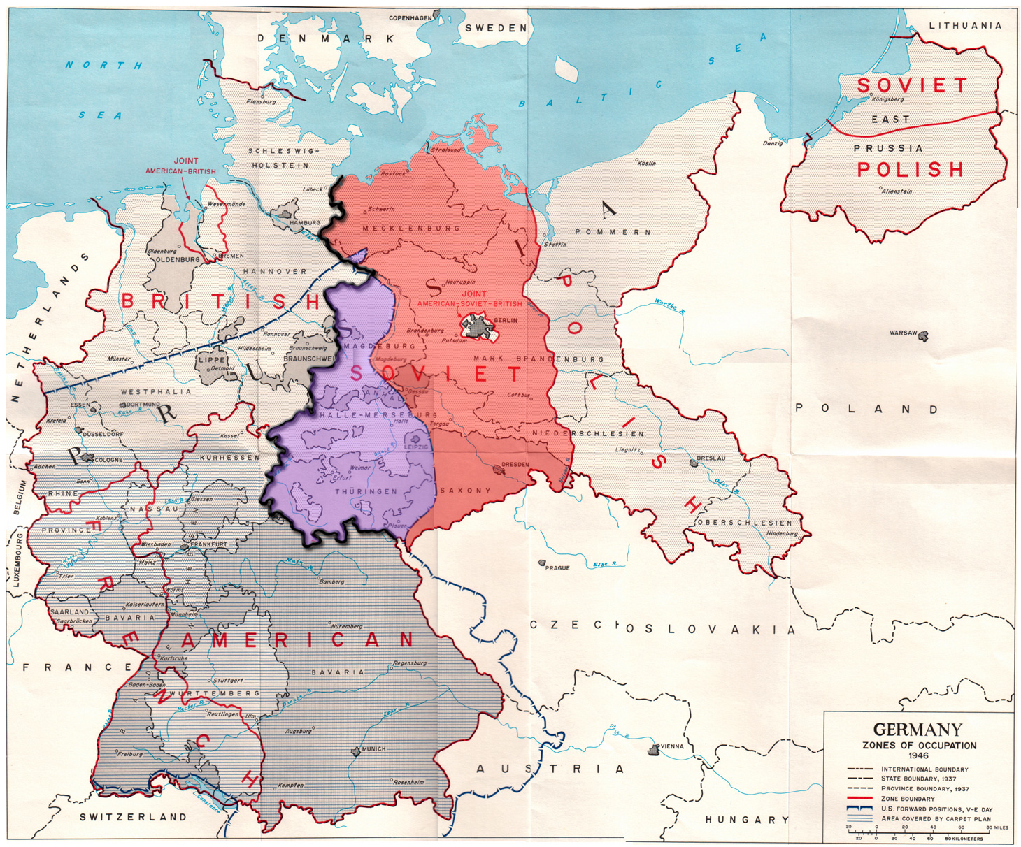 Germany: Zones of occupation (1946)