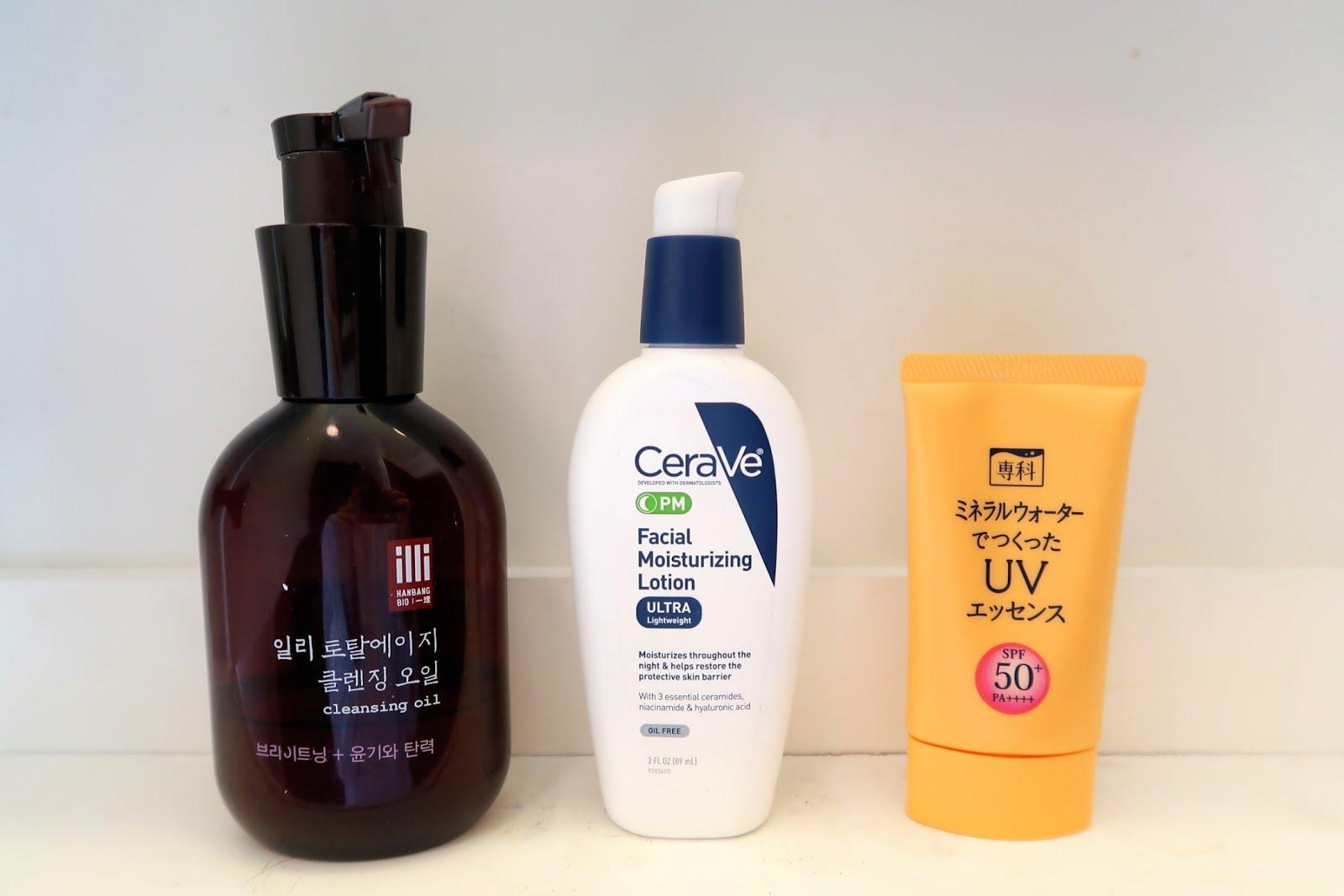 skincare korean beauty kbeauty oil cleanser first sunscreen moisturizer cerave