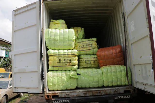 Nigeria Customs Service seizes parboiled rice, poultry, vegetable oil, others.