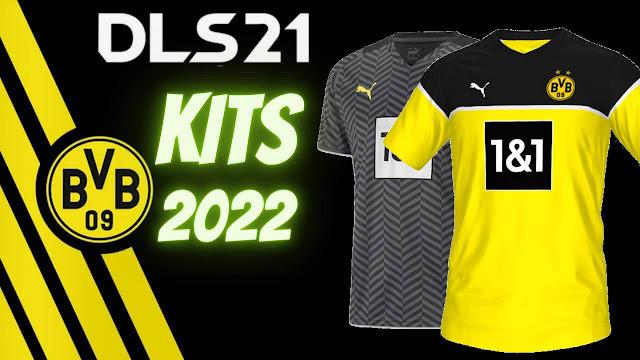Borussia Dortmund Kits 2022 DLS 21 Data Dream League Socce FTS