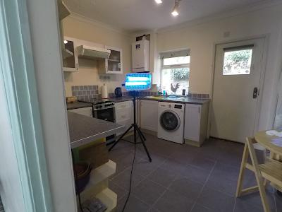 UV-C Lamp sterilizing kitchen