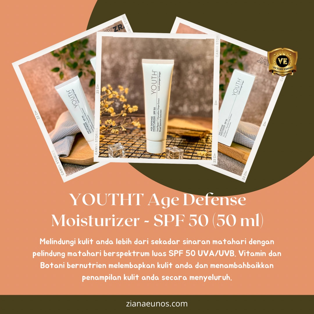 Sunscreen Youth Age Defense Moisturizer SPF 50