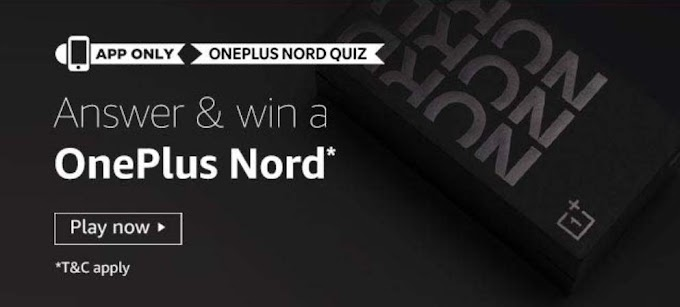 Amazon OnePlus Nord Quiz Answers Win Oneplus Nord