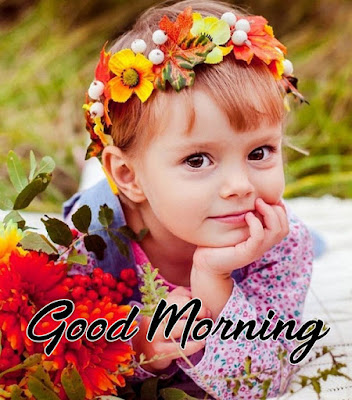 good morning baby girl hd image