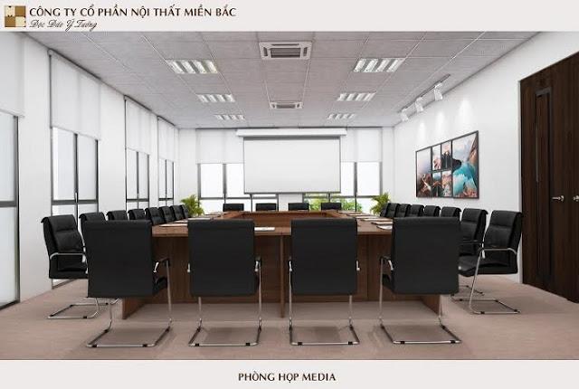 Mẫu thiết kế nội thất phòng họp đầy tiện nghi - H1