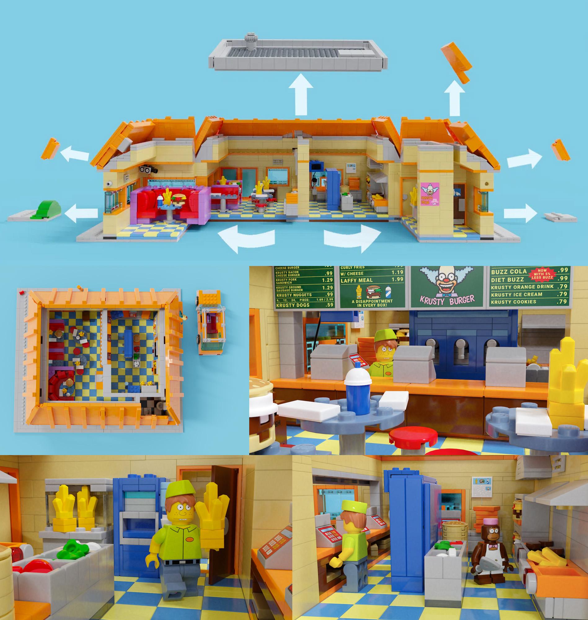 レゴアイデアで『シンプソンズのクラスティバーガー』が製品化レビュー進出!2020年第3回1万サポート獲得デザイン紹介