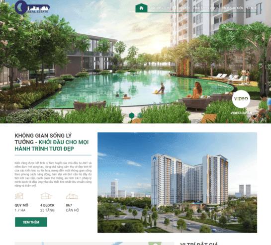 Template Blogpsot bất động sản landing page