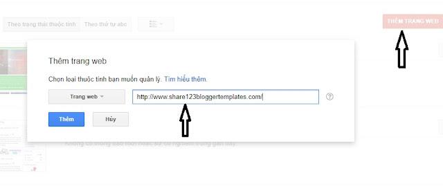 Thêm trang web lên google
