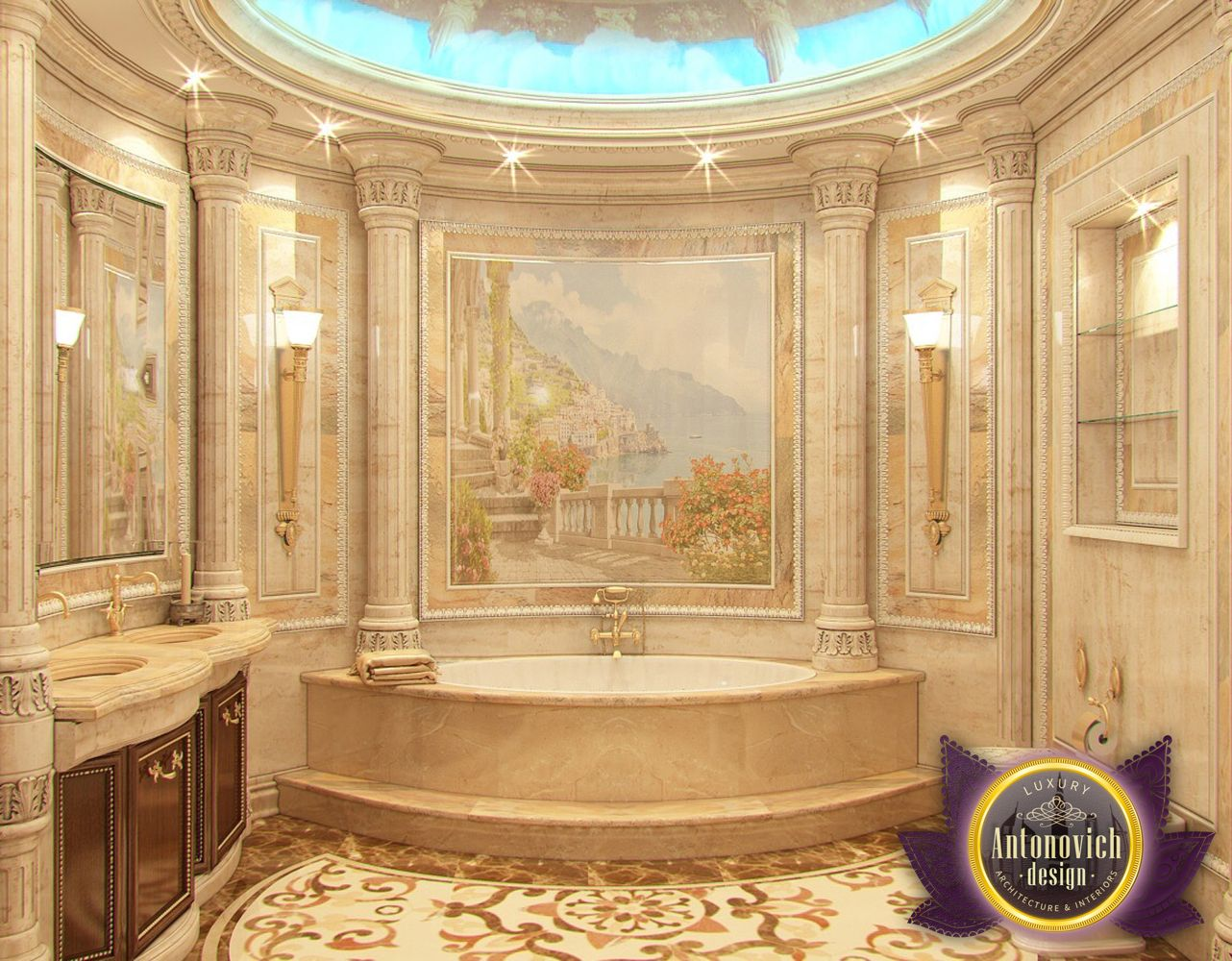 Nigeiradesign bathroom designs by luxury antonovich design for Architecture and interior design