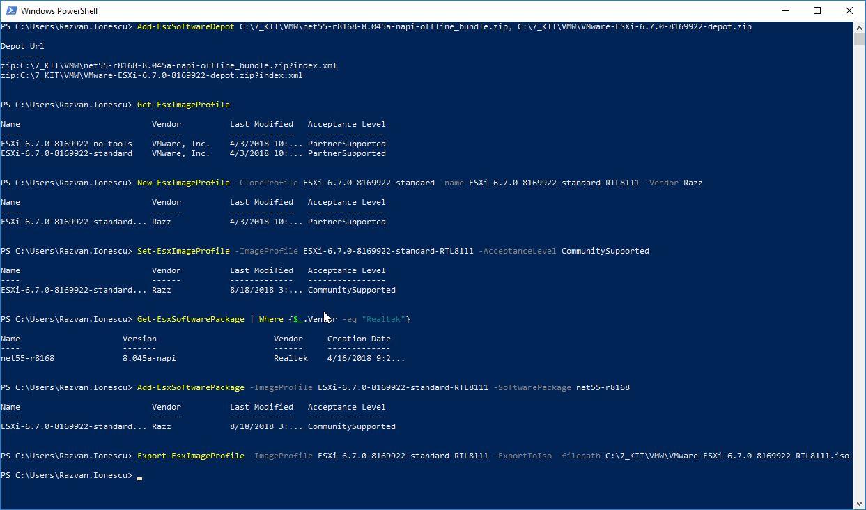 Sysadmin Stories: Adding Realtek 8111 driver to vSphere 6 7