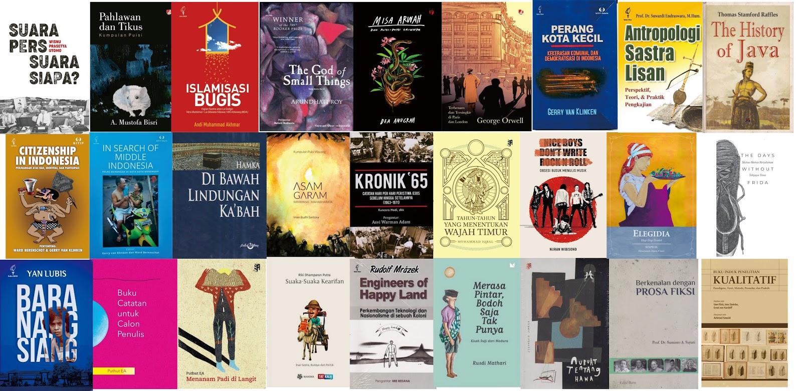 Jualan Buku Sastra Katalog Lengkap Juli 2019 I
