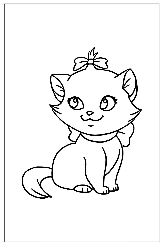 Download Wallpaper Coloriage chat mignon