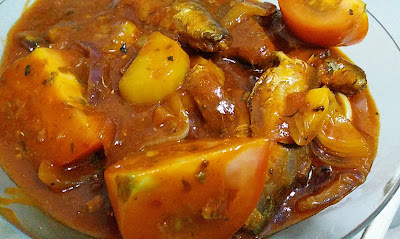 Resepi Sambal Sardin Dengan Kentang Dan Tomato