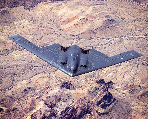 What is the point of not only deploying the three B-2s to North Korea?