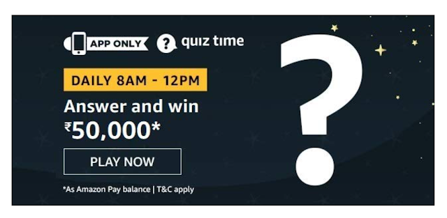 Amazon Quiz 24th September 2020 Answer – Play And Win 10000 Pay Balance