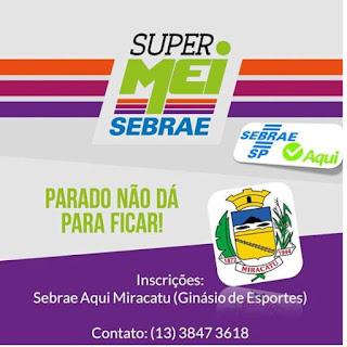 SEBRAE realiza programa gratuito Super MEI Gestão em Miracatu
