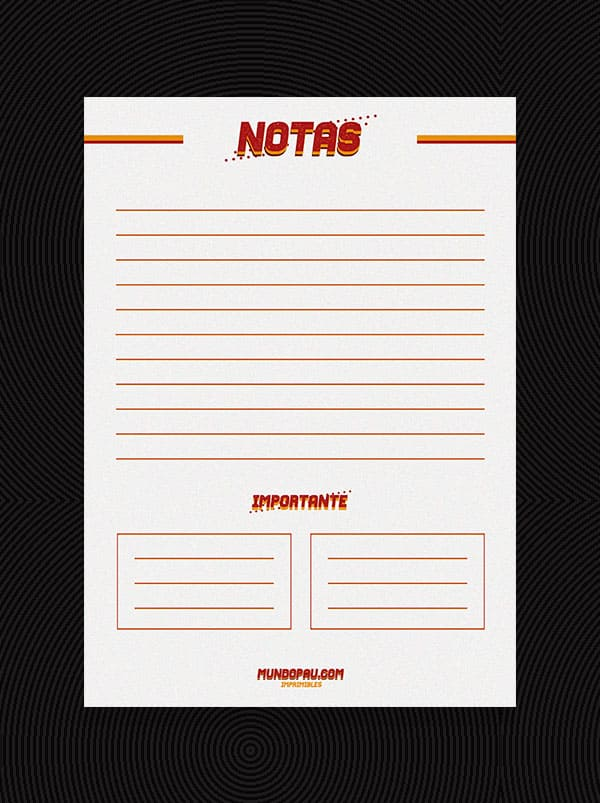 notas de agenda 2021 para imprimir en vintage