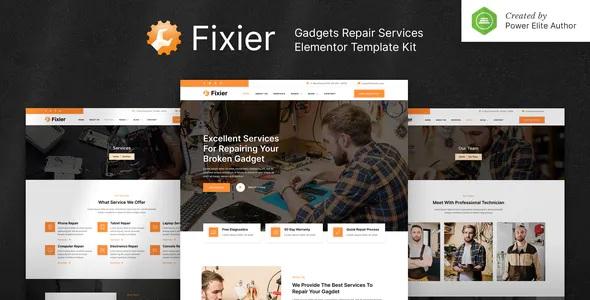 Best Gadgets & Electronics Repair Services Elementor Template Kit