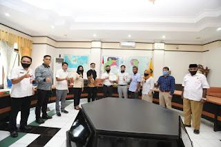 Ketua, Unsur Pimpinan dan Perwakilan Anggota DPRD Kota Tarakan Berkunjung ke Kantor Wali Kota - Tarakan Info