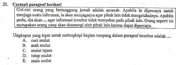 Pembahasan Soal Melengkapi Teks Dengan Ungkapan Yang Tepat Soal Un 2019 Bahasa Indonesia Sma Nomor 20 Zuhri Indonesia