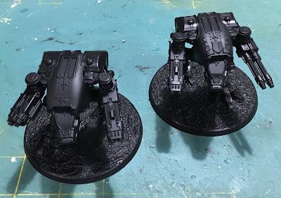 Legio Ignatum Warhound Titans for Adeptus Titanicus WIP