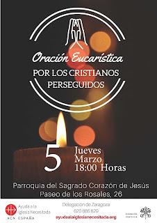 5-III-2020, oración eucarística por los cristianos perseguidos