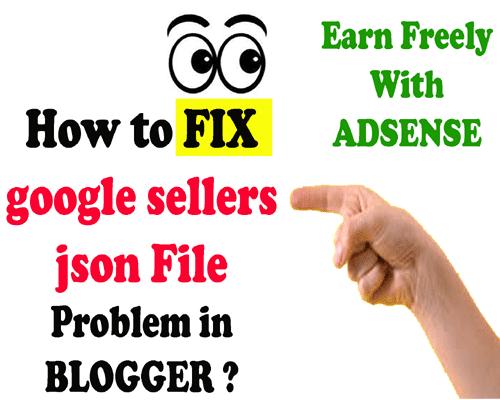 fixing google sellers json error in adsense