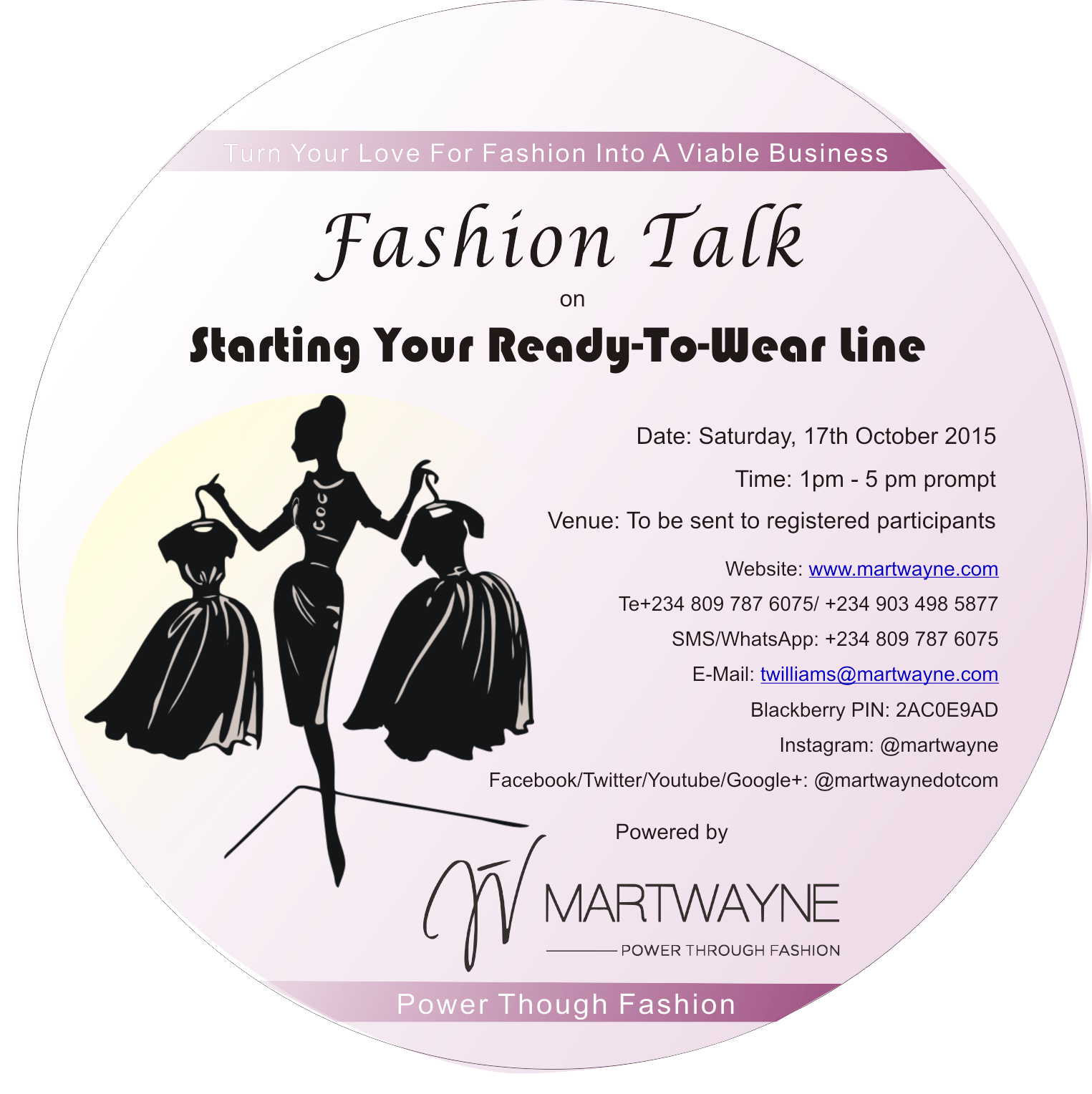 "Buy Your Fashion Talk 1 DVD on ""Starting Your Ready to Wear Line"""