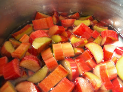 Rhubarb, cooking