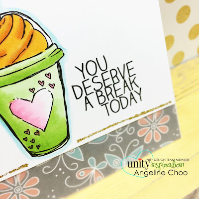 Unity Stamp Company: Inspiration Wednesday with Angeline - See through card #unitystampco #scrappyscrappy #seethroughcard #vellum #stamp #stamping #kotm #summer #copic