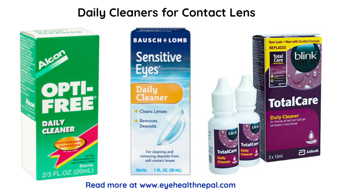 Daily complete contact lenses solution